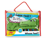 Soft Activity Book - Whose Feet