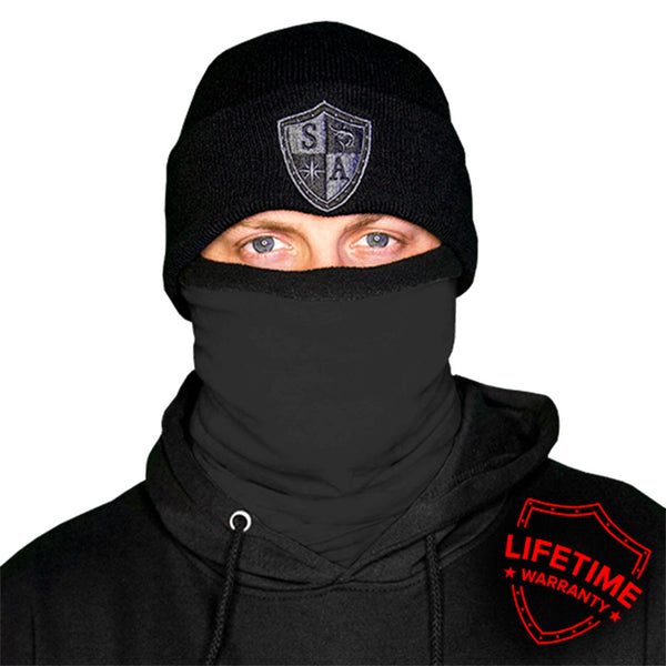 Frost Tech - Tactical Black Fleece Lined Face Shield