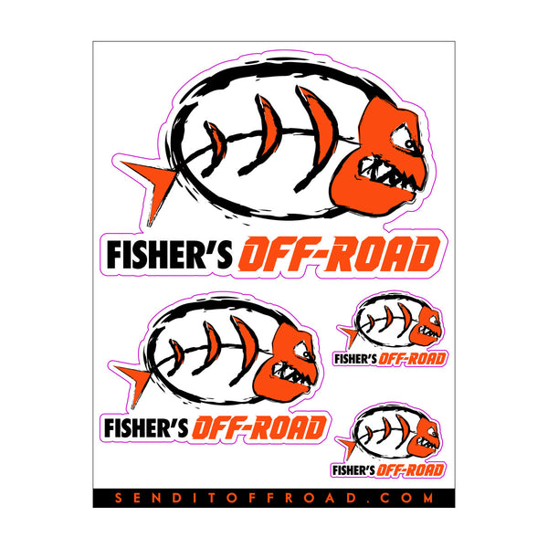Fisher's Off-Road Decal Pack 4 Pc. Set