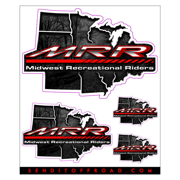 Midwest Recreational Riders Decal 4 Pc. Set