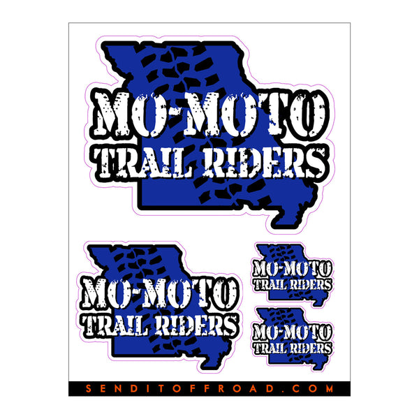 Mo-Moto Trail Riders Decal Pack 4 Pc. Set
