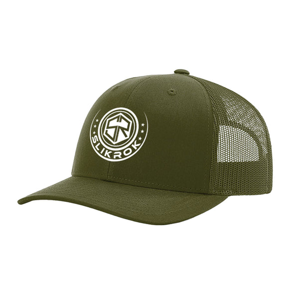 "SlikRok ""Circle Logo"" (Center) Embroidered Trucker Mesh Hat"