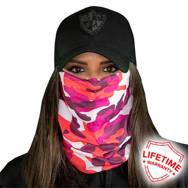 Pink Camo Face Shield