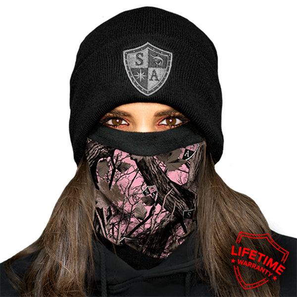 Frost Tech - Pink Forest Camo Fleece Lined Face Shield