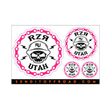 RzR Utah Decal Pack 4 Pc. Set