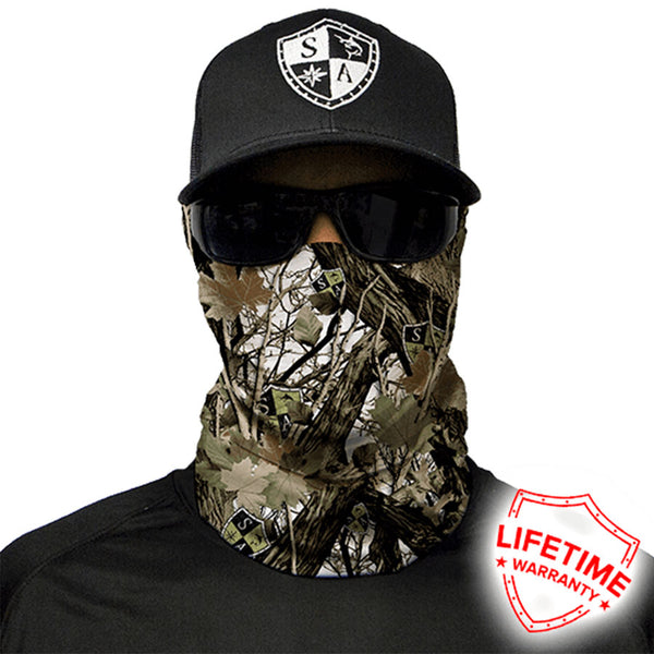 Snow Camo Face Shield