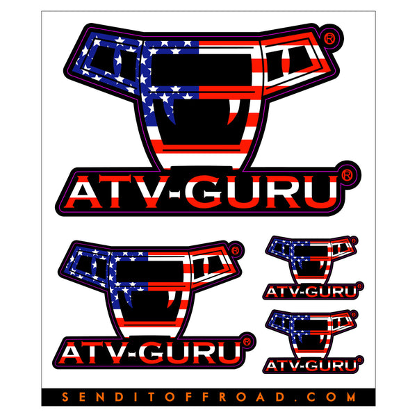 ATV-Guru Decal Packs 4 Pc. Set