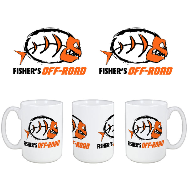 Fisher's Off-Road 15oz. White Coffee Mug