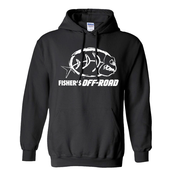 Fisher's Off-Road White Logo Hoodie