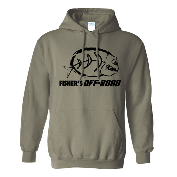 Fisher's Off-Road Black Logo Hoodie