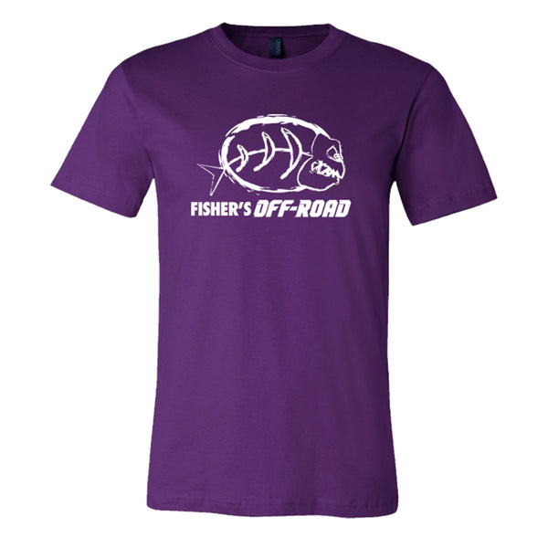 Fisher's Off-Road White Logo T-Shirt