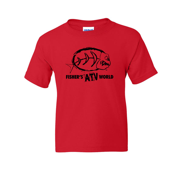 "Fisher's ATV World ""Logo"" Youth T-Shirt<B> NOW 60% OFF WHILE SUPPLIES LAST!!!"