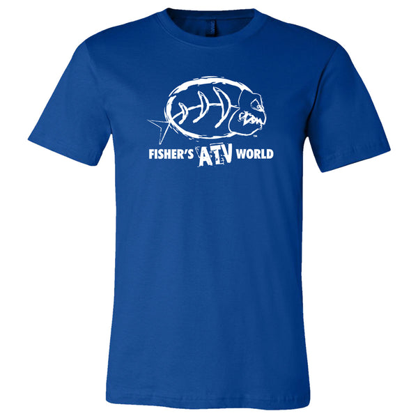 Fisher's ATV World White Logo T-Shirt
