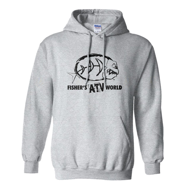 Fisher's ATV World Logo Hoodie Now 50% off while supplies last!!!