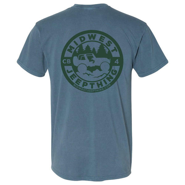 Midwest Jeepthing Inspired Dye Pocket Crew T-Shirt