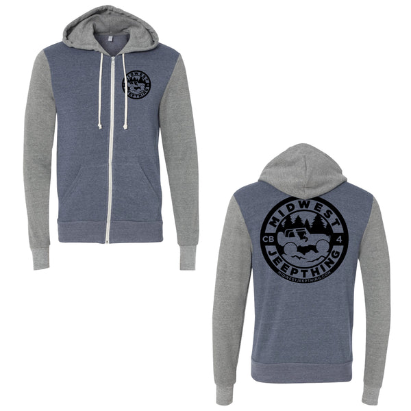 Midwest Jeepthing Eco-Fleece Full Zip Hoodie
