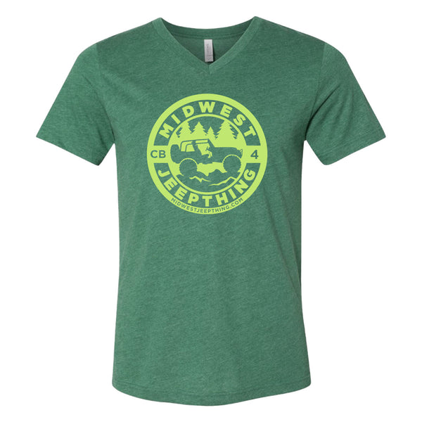 Midwest Jeepthing V-Neck Jersey T-Shirt