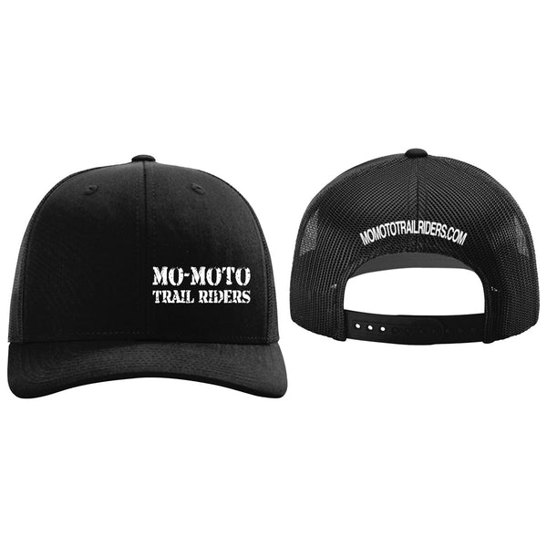 Mo-Moto Trail Riders Black Trucker Mesh Hat