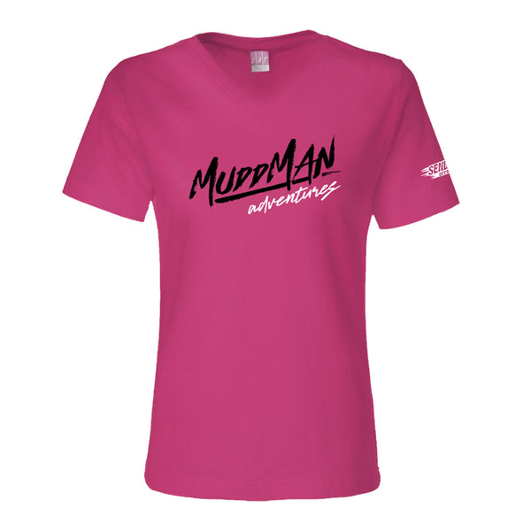 Mudd Man Adventures Ladies V-Neck