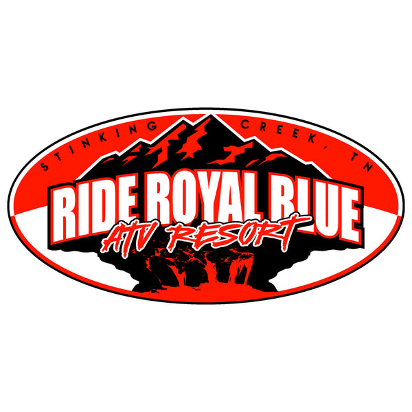 "Ride Royal Blue 4""x 2"" Decal"