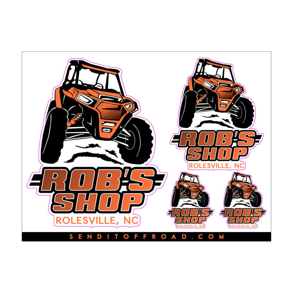 Rob's Shop Decal 4 Pc. Set