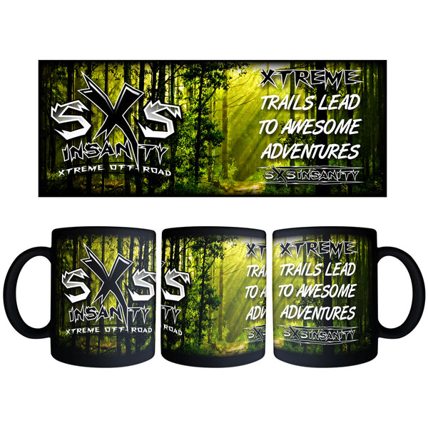 SxS Insanity 11oz. Black Coffee Mug