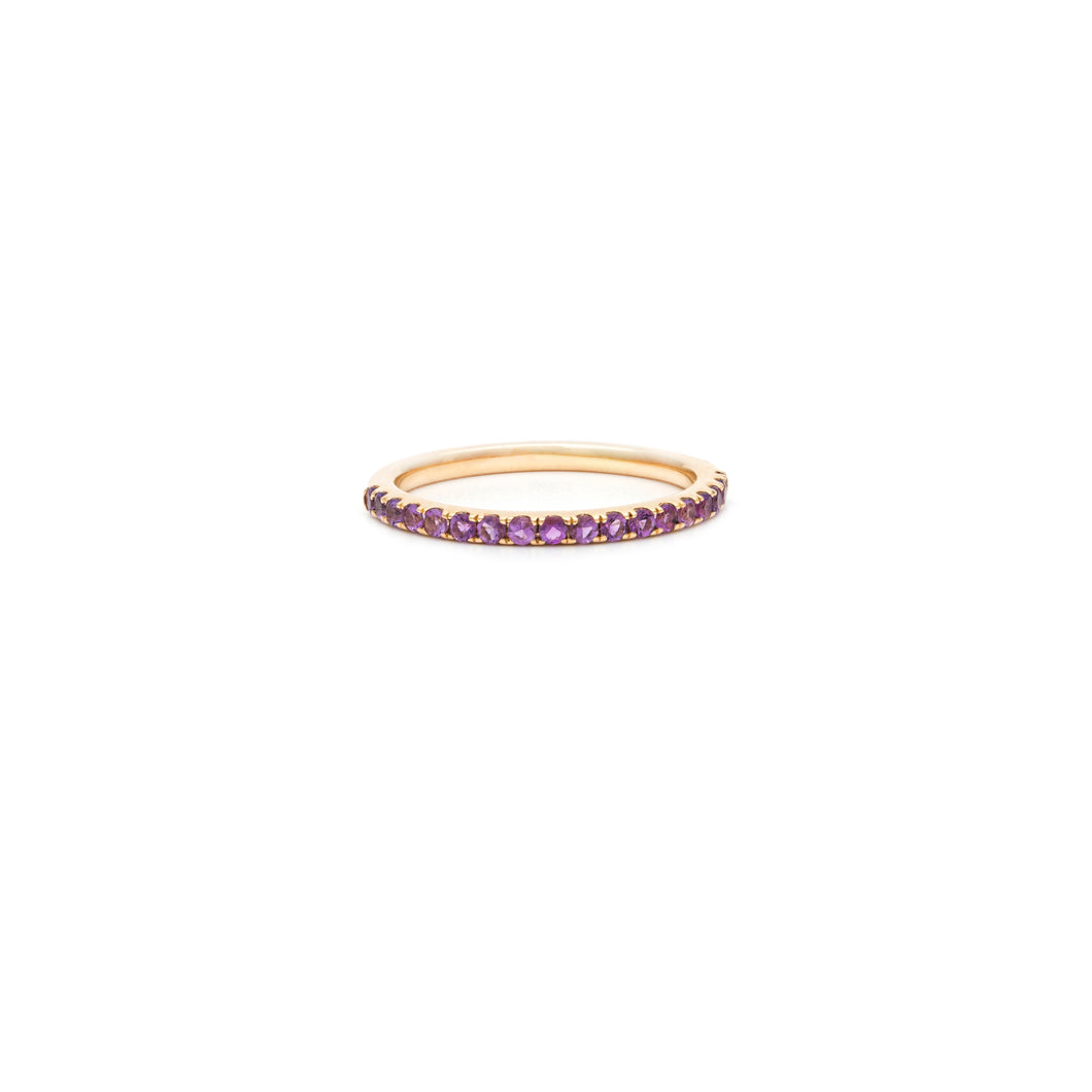 Mallorca Micro Pavé Stacking Ring - Amethyst