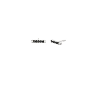 Horizon Black Spinel Bar Stud Earrings