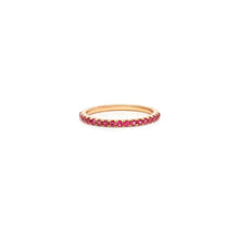 Load image into Gallery viewer, Mallorca Micro Pavé Stacking Ring - Ruby