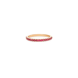 Mallorca Micro Pavé Stacking Ring - Ruby