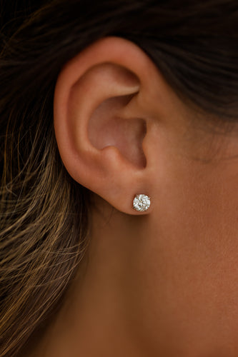 Diamond Stud Earrings - 14 Karat Gold