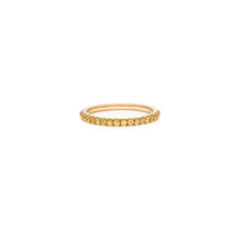 Load image into Gallery viewer, Mallorca Micro Pavé Stacking Ring - Yellow Sapphire
