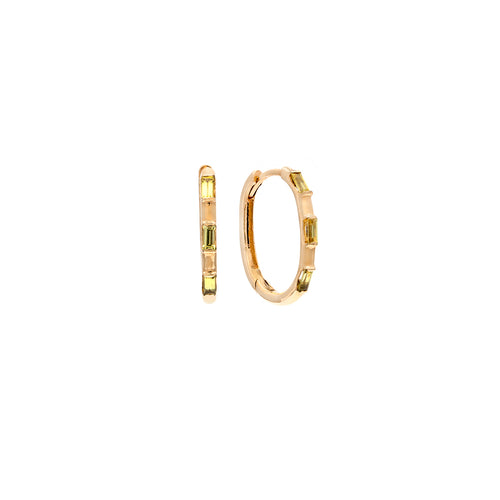 Ibiza 14k Gold Hoop Earrings - 18mm