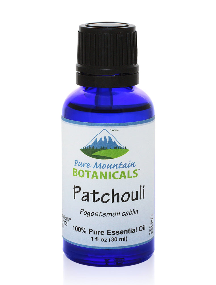 Pure Mountain Botanicals Essential Oil Patchouli Essential Oil - Full 1 oz Bottle - Kosher Certified
