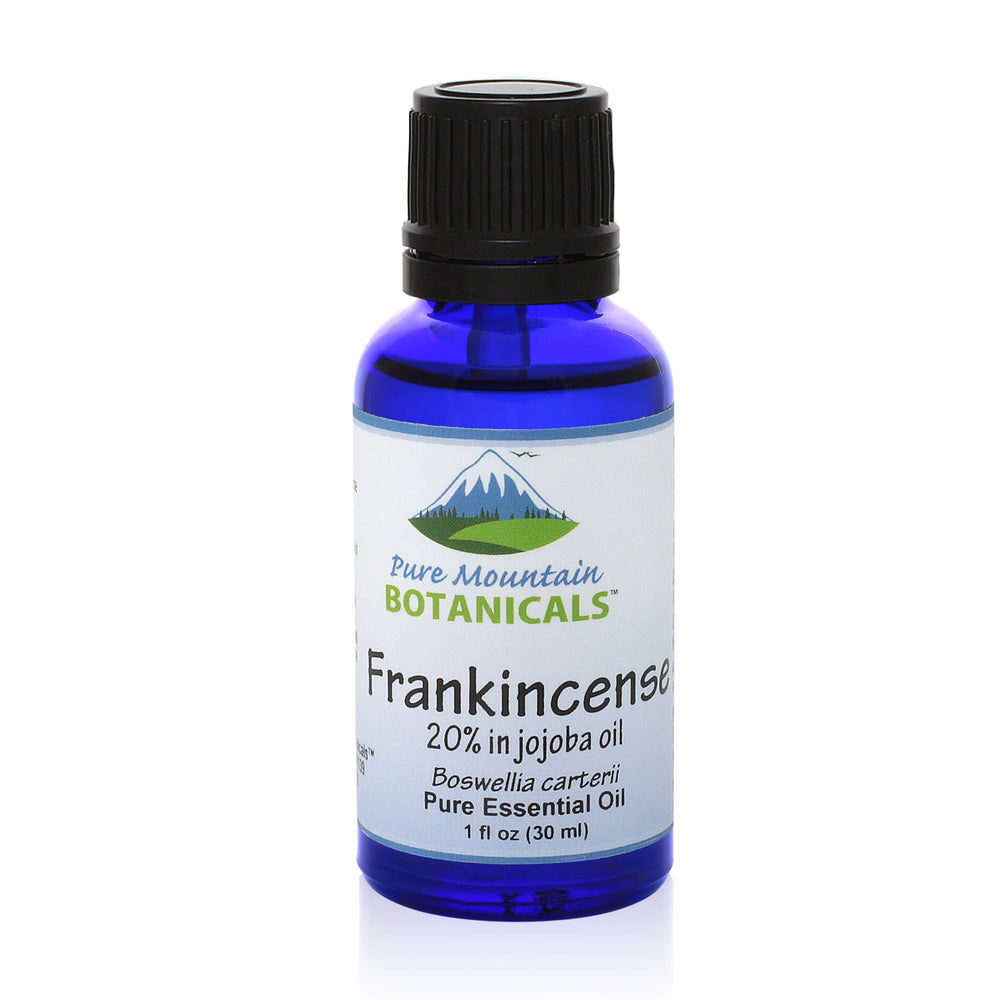 Pure Mountain Botanicals Essential Oil Frankincense (Boswellia Carterii) Essential Oil - 100% Pure Natural & Kosher - 1 fl oz Bottle