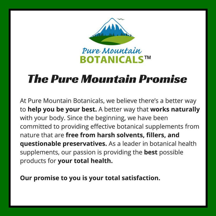 Pure Mountain Botanicals Supplement Bilberry Capsules - Full Spectrum Extract - 60 Kosher Veggie Caps