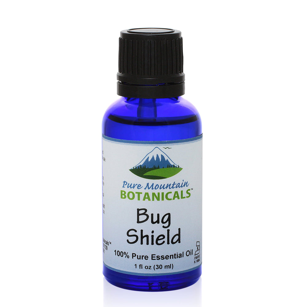 Pure Mountain Botanicals Essential Oil Bug Shield Essential Oil Blend - 100% Pure Natural & Kosher - 1 fl oz Bottle