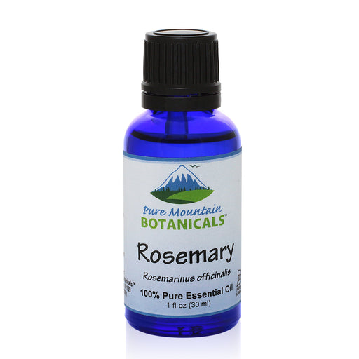 Pure Mountain Botanicals Essential Oil Rosemary (Rosemarinus Officinalis) Essential Oil - 100% Pure Natural & Kosher - 1 fl oz Bottle