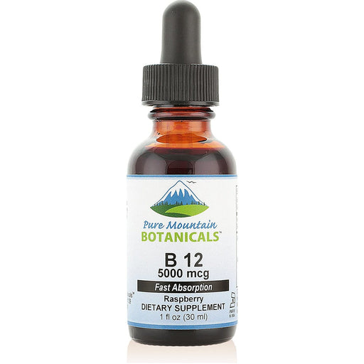 B12 Vitamin 5000 mcg – Kosher B12 Drops in 1oz Bottle with Natural Berry Flavor