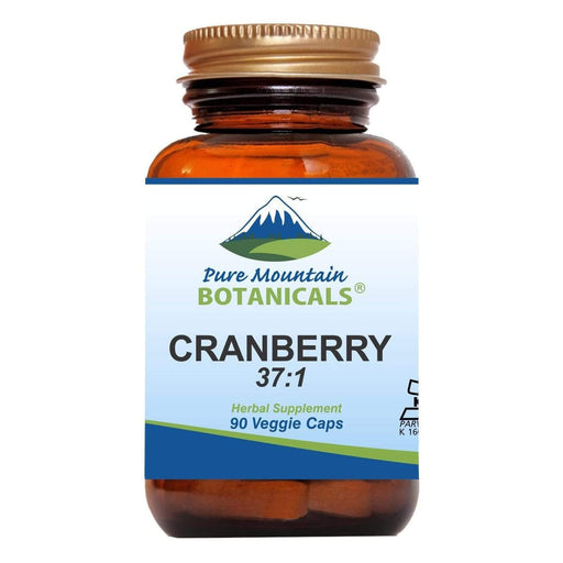 Pure Mountain Botanicals Supplement Cranberry Capsules - High Potency 90 Kosher Veggie Caps