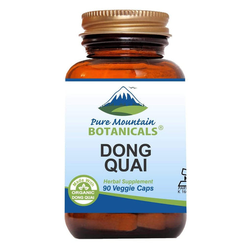 Pure Mountain Botanicals Supplement Dong Quai Capsules - 90 Kosher Vegetarian Caps