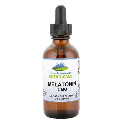Pure Mountain Botanicals Supplement Melatonin Liquid 3mg – Raspberry and Vanilla Flavor Sublingual Drops