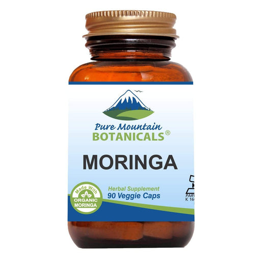Pure Mountain Botanicals Supplement Moringa Capsules - 1000mg Organic Moringa - 90 Count