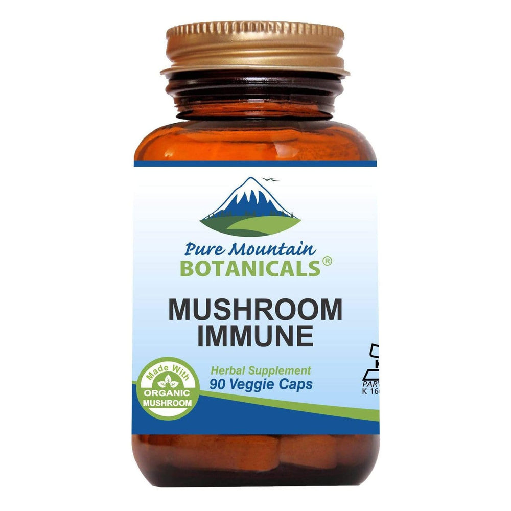 Pure Mountain Botanicals Supplement Mushroom Immune Capsules - 90 Organic Kosher Caps