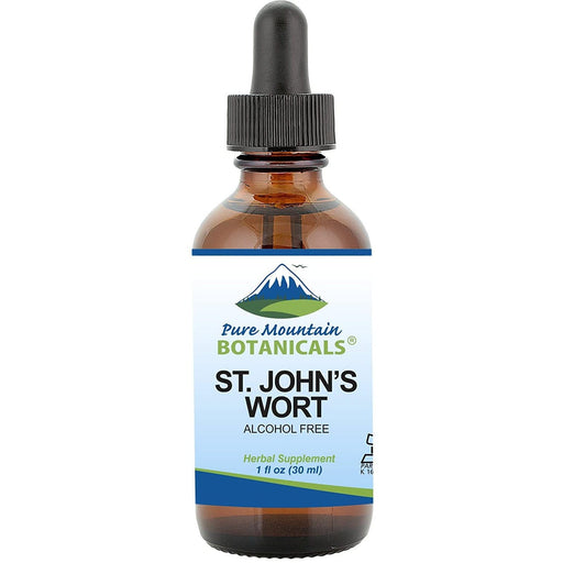 St John's Wort Tincture – Kosher Liquid St. John's Wort Alcohol-Free Extract - 500mg - 1oz Bottle