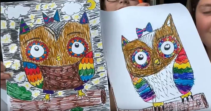 Draw & Color: Patterned Owl with Gina Scollick