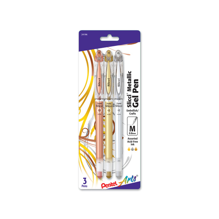 Slicci™ Metallic Gel Pen, 3 Pack