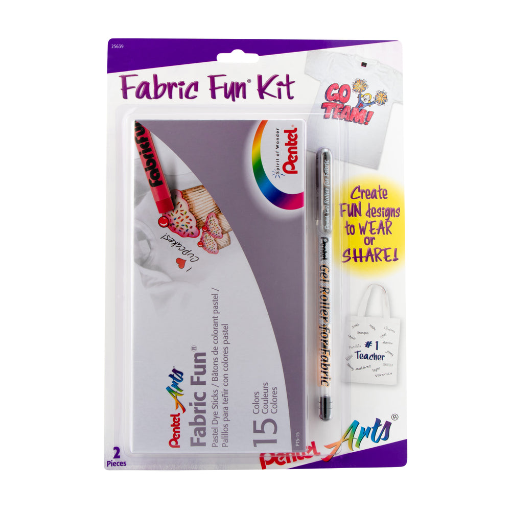 Fabric Fun Kit - Pastel Dye Sticks & Gel Roller