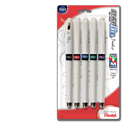 EnerGel Tradio Pearl Liquid Gel Pens - 5-pack