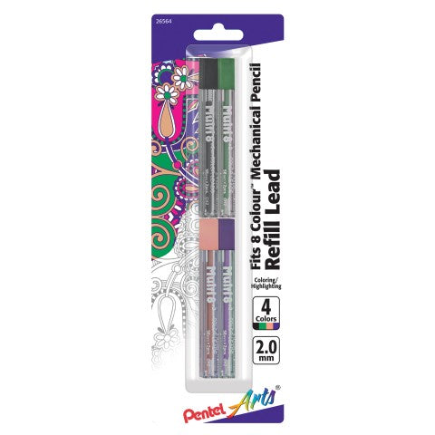 8-Colour Pencil Refill, Assorted 4 Pack